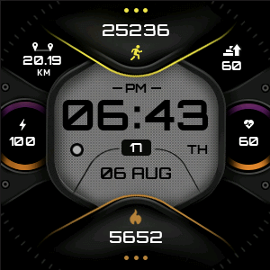 X-Force Fitbit watch face