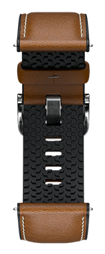 Brown Lather Strap for samsung galaxy smart watch