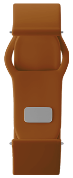 Brown silicone Strap for samsung galaxy smart watch