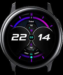 Purple Galaxy watch face