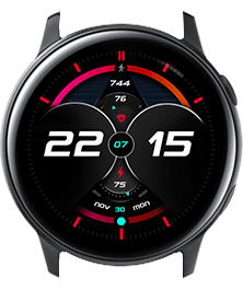 Red Galaxy watch face