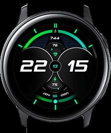 Green Galaxy watch face