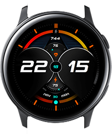 Red-yellow Galaxy watch face
