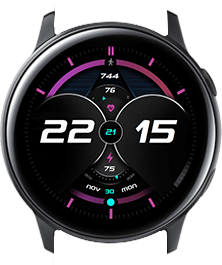 Pink Galaxy watch face
