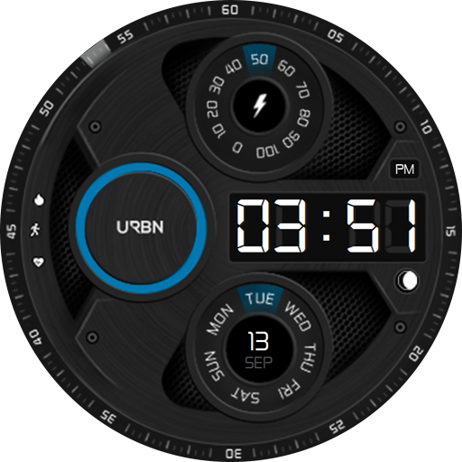Modern galaxy watch face - blue