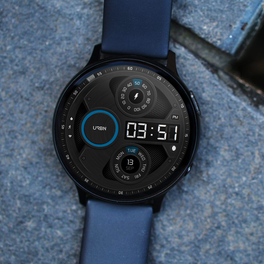 samsung galaxy watchface on stone