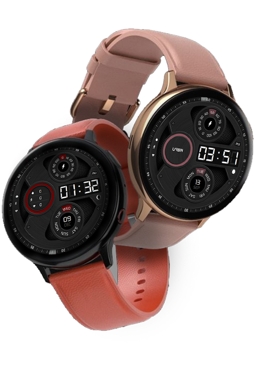 Samsung galaxy watch face red and pink