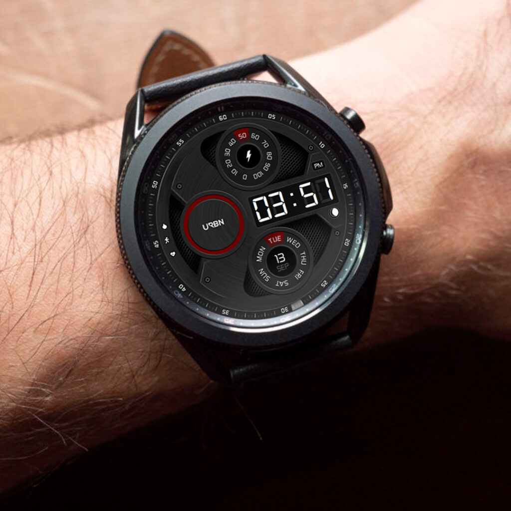 samsung watch 3 watchface on wrist