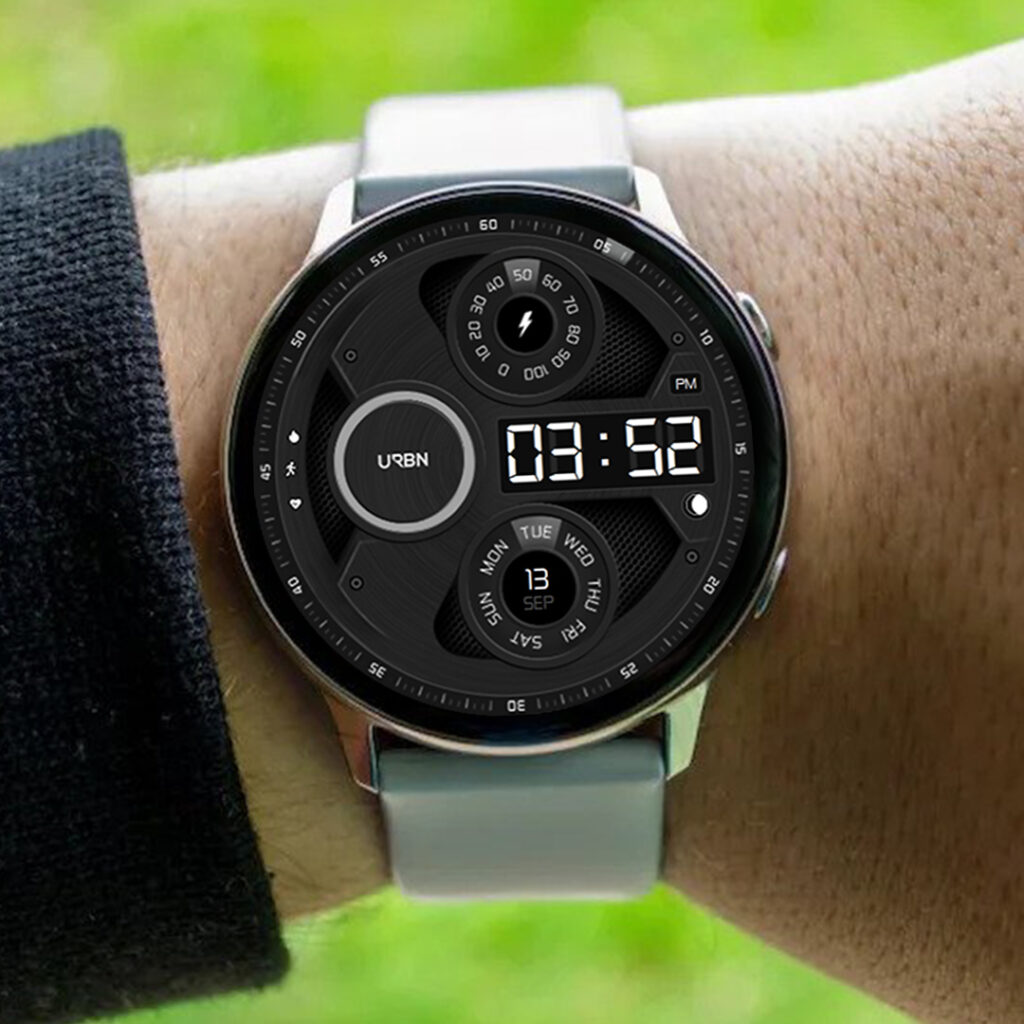 samsung galaxy watchface on wrist