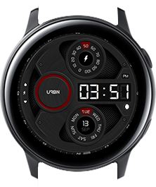Urbn watch face - Gravity - Red