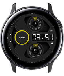 Urbn watch face - Gravity - Yellow