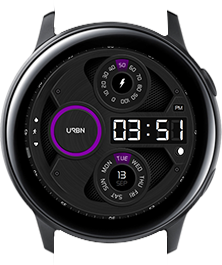 Urbn watch face - Gravity - Purple
