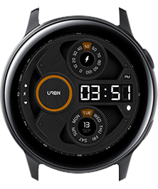 Urbn watch face - Gravity - Orange