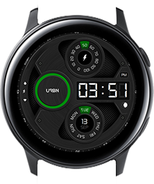 Urbn watch face - Gravity - Green