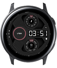 Urbn watch face - Gravity - Pink